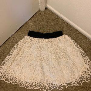 Dresses & Skirts - Floral Creme Tulle Skirt